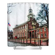 Independence Hall From Chestnut Street Shower Curtain