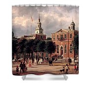 Independence Hall In Philadelphia Shower Curtain