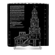 Independence Hall Transverse Section - Philadelphia Shower Curtain