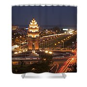 Independence Monument, Cambodia Shower Curtain