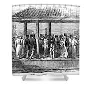 India Train Station, 1854 Shower Curtain