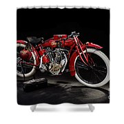 Indian 8-valve Racer Shower Curtain