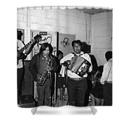 Indian Bar The Lucky Dollar  Tohono O'odham Chicken Scratch Band South Tucson Arizona 1975 Shower Curtain