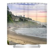 Indian Beach One Foggy Morning Shower Curtain