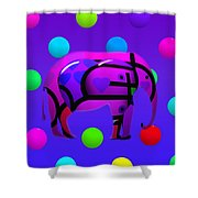 Indian Blue Shower Curtain