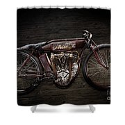 Indian Board Track Racer Shower Curtain