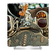 Indian Chopper Taillight Shower Curtain