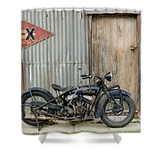Indian Chout At The Old Okains Bay Garage 2 Shower Curtain