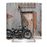 Indian Chout At The Old Okains Bay Garage 3 Shower Curtain