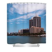 Indian Creek And Blue Tower Condos Shower Curtain