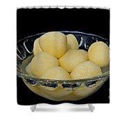 Indian Dessert - Rasgulla Shower Curtain
