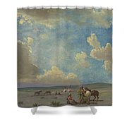Indian Encampment Shower Curtain