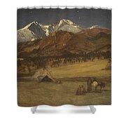 Indian Encampment - Evening Shower Curtain
