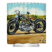 Indian Four 1933 Shower Curtain