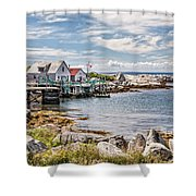 Indian Harbour Shower Curtain