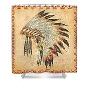 Indian Head Dress-a Shower Curtain