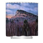 Indian Head In Lincoln New Hampshire Shower Curtain