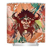 Indian Head Series 02 Shower Curtain