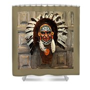 Indian Headdress In  Brown Shower Curtain