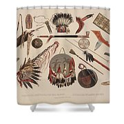 Indian Implements And Arms Shower Curtain