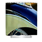 Indian Motorcycle Fender Emblem Shower Curtain