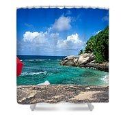 Indian Ocean Moyenne Island Seychelles Shower Curtain