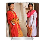 Indian Sewing Students Shower Curtain