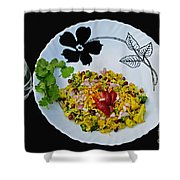 Indian Snacks - Poha Shower Curtain