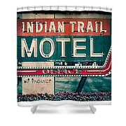 Indian Trail Motel Shower Curtain