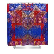 Indian Weave Abstract Shower Curtain