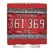 Indiana 1949 License Platee Shower Curtain