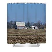Indiana Barns Shower Curtain