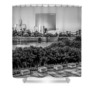 Indiana - Downtown From Across White River Panoramic Shower Curtain