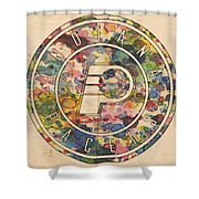 Indiana Pacers Logo Vintage Shower Curtain