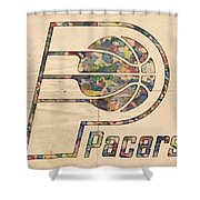 Indiana Pacers Poster Art Shower Curtain