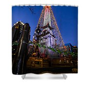 Indiana - Soldiers And Sailers Monument With Lights Shower Curtain