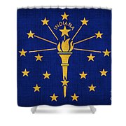Indiana State Flag Shower Curtain