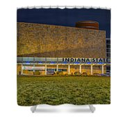 Indiana State Museum Night Delta Shower Curtain