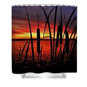 Indiana Sunset Shower Curtain by Benjamin Yeager