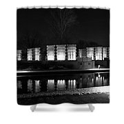 Indiana War Memorial On The Canal Shower Curtain
