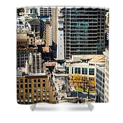 Indianapolis Aerial Picture Of Monument Circle Shower Curtain