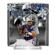 Indianapolis Colts Christmas Card Shower Curtain