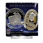 Indianapolis Metro Police Memorial Shower Curtain