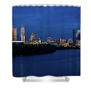 Indianapolis State Capitol And Skyline Shower Curtain