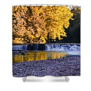 Indianhead Dam - Perkiomen Creek Shower Curtain