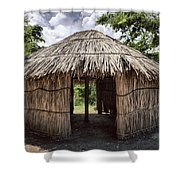 Indigenous Tribe Huts In Puer Shower Curtain