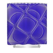 Indigo Petals Morphed Shower Curtain