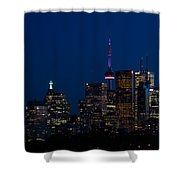 Indigo Sky And Toronto Skyline Shower Curtain