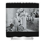 The Cyclist Shower Curtain
