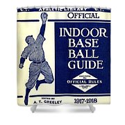 Indoor Base Ball Guide 1907 II Shower Curtain by American Sports Publishing